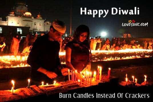 safe diwali happy diwali, burn candles instead of crackers