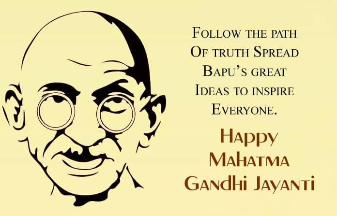 Images for gandhi jayanti messages, Gandhi Jayanti SMS Greetings In English, Gandhi Jayanti Wishes