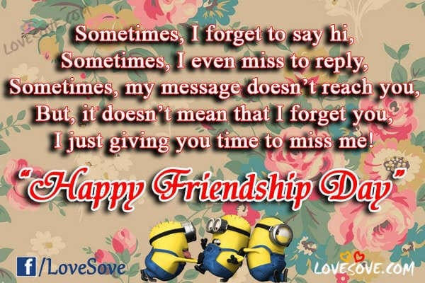 Happy Friendship Day Quotes Sms In Hindi Shayari Images