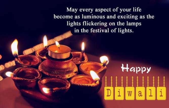One Line Happy Diwali WhatsApp Status, Best Wishes Diwali Quotes for Friends Family & Lovers