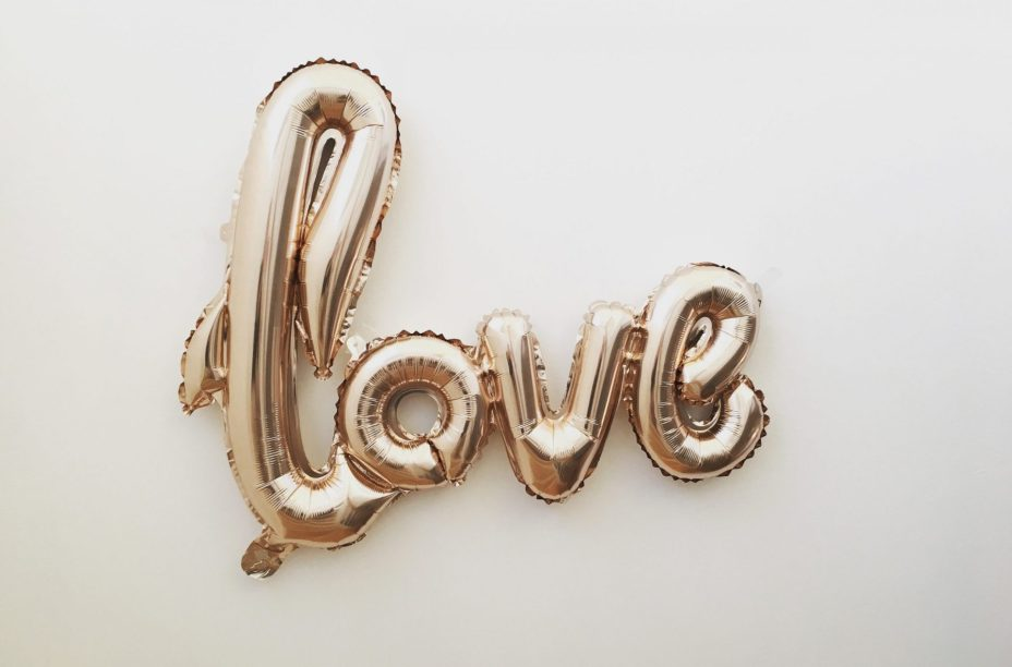Love text image