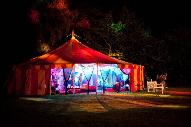 Circus wedding marquee / tent at Sussex wedding