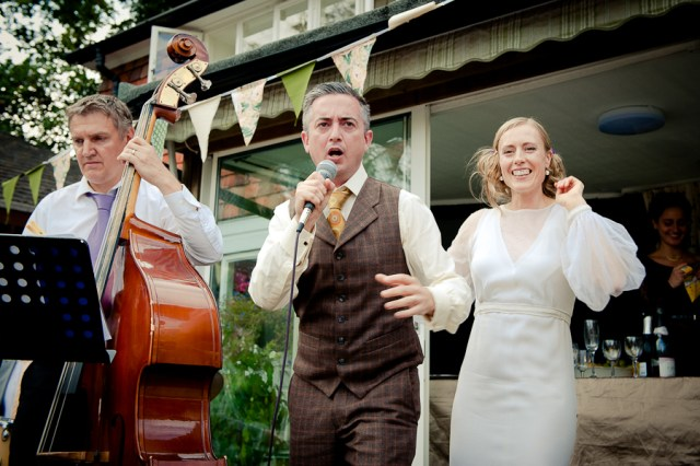 Wedding jazz band at a Sussex wedding