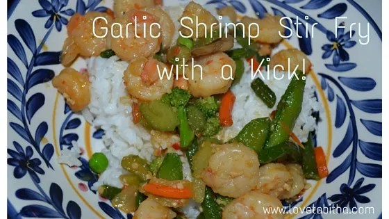 garlic shrimp stir fry with a kick