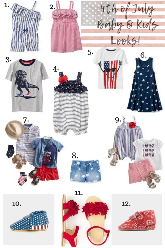 Baby & Kids 4th of July Looks!