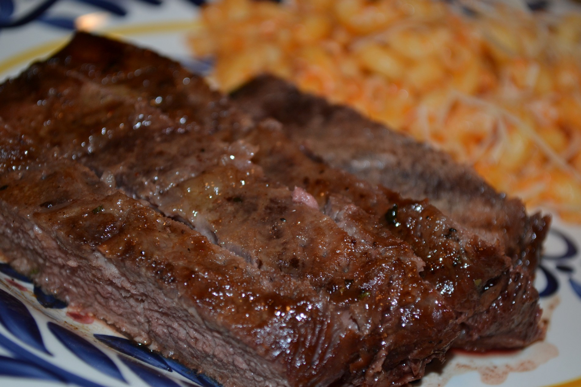 This steak marinade recipe is very good, it has a sweet and oily taste to it.