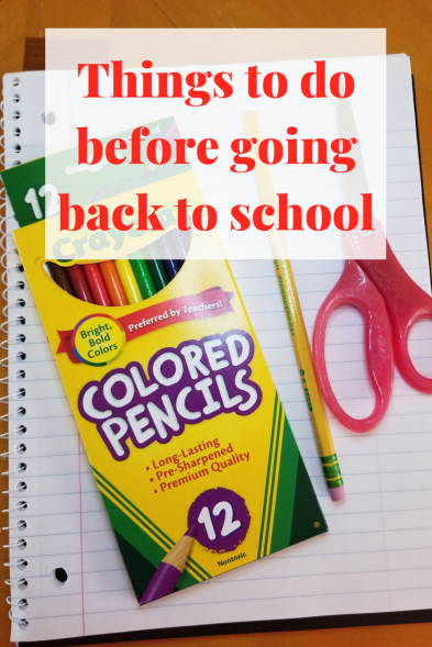 Things to do before going back to school photo