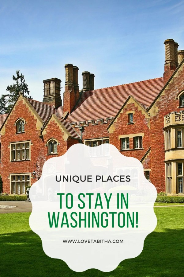 Here's a list of unique places to stay at in Washington state.