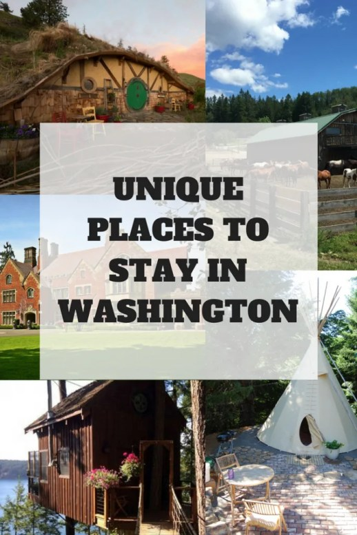 Are you looking for a unique place to stay in Washington? I've got a list of places including farms, treehouses, teepees and more.