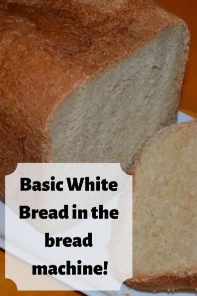 Recipe for basic white bread in a bread machine!