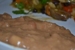 Get Mexican Restaurant Style Refried Beans at home with only two ingredients