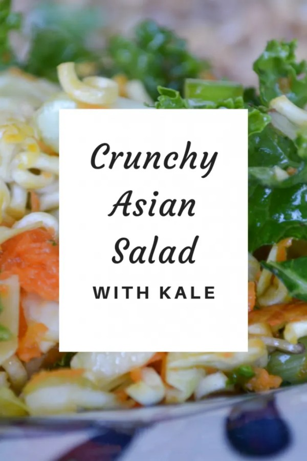 Enjoy this Crunchy Asian Salad with Kale at your next barbecue or potluck!