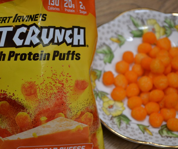 Robert Irvine's FITCRUNCH Cheddar Cheese High Protein Puffs