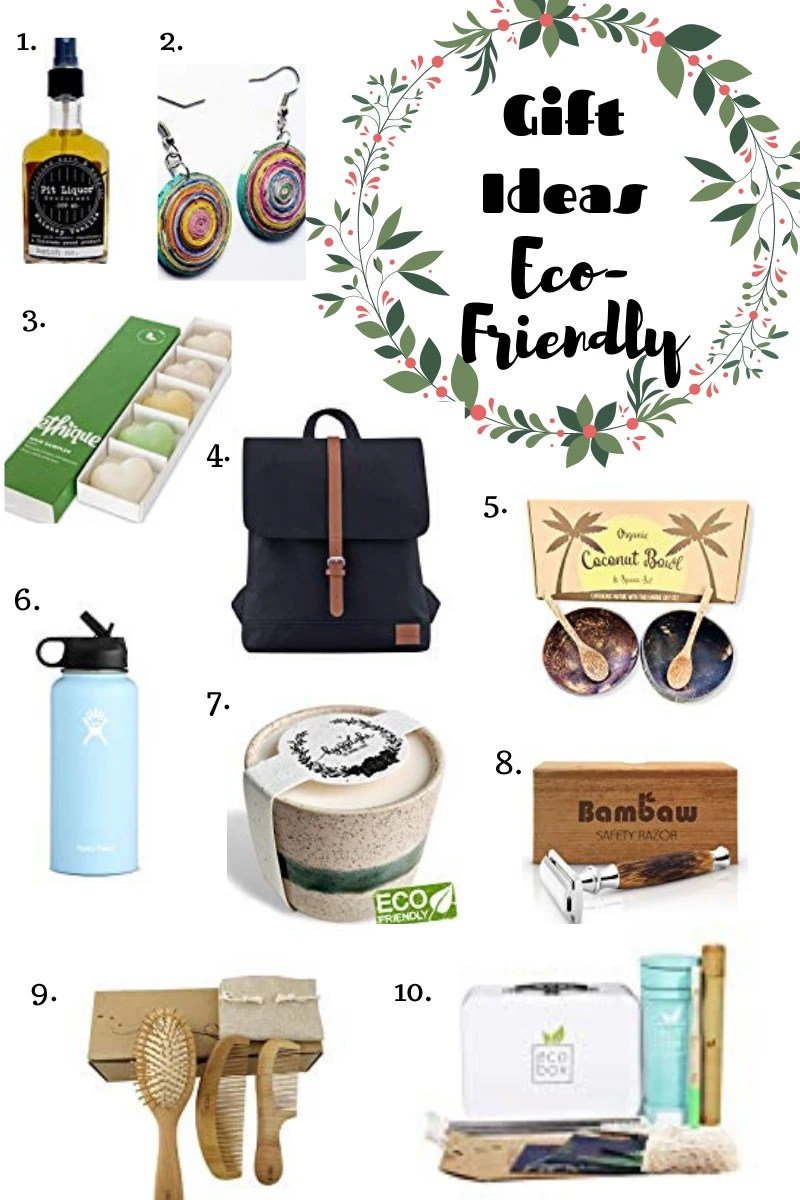 Lots of great gift ideas for all the eco-friendly loved ones in your life. #ecofriendlygifts #holidaygiftguide #ecofriendly