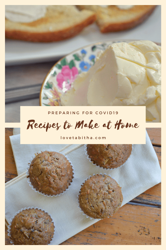 Recipes to make at home; preparing for #Covid19
