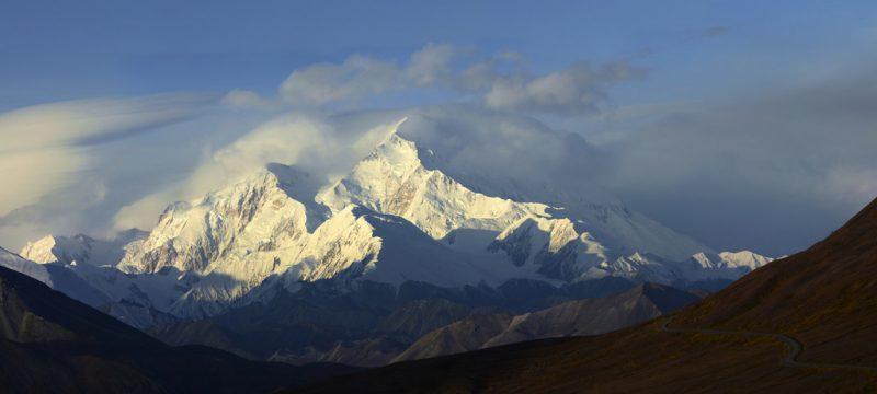 peaks, winter, Denali