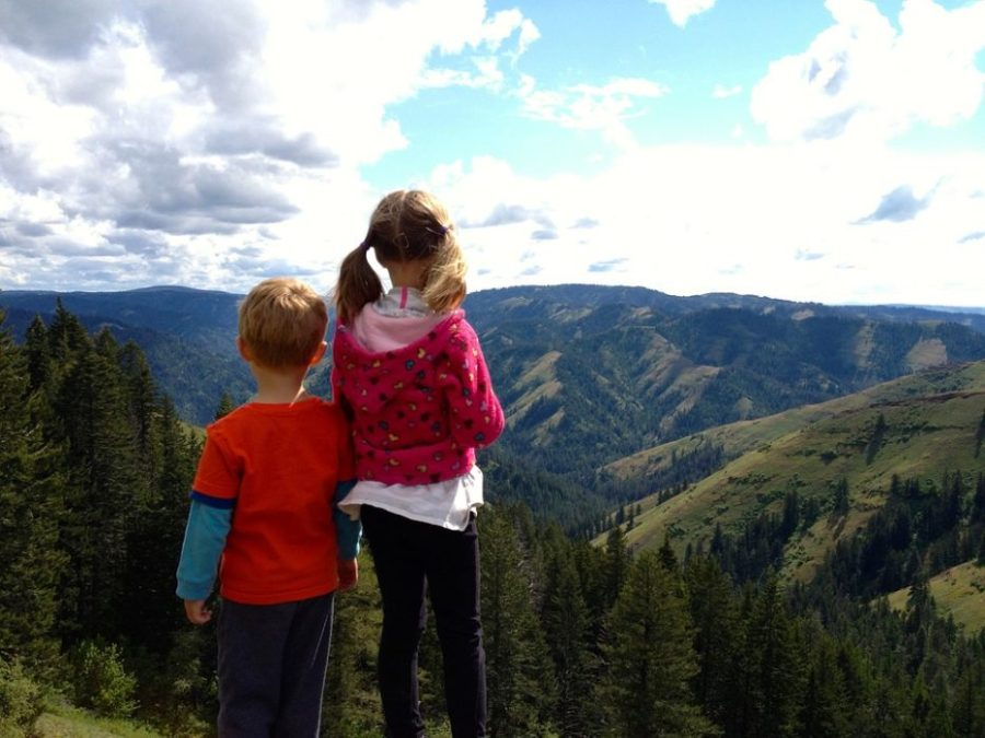 hiking, child, children, fitness