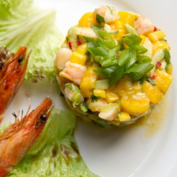 Prawn, Mango, Avocado, Chilli Salad