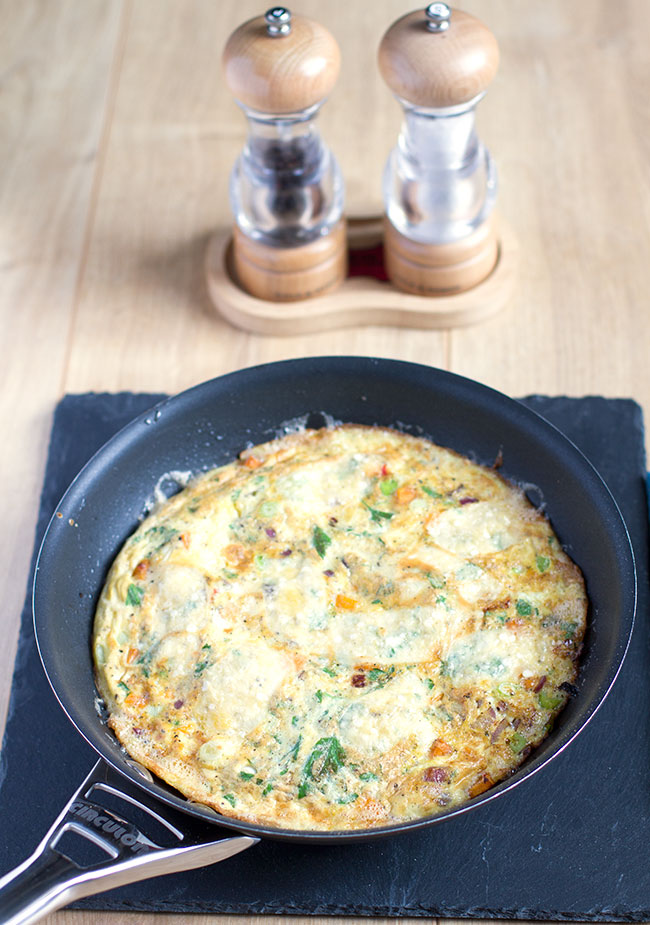 Sweet Potato, Spring Onion and Chilli Tortilla