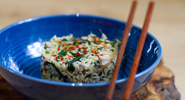 Fragrant Spinach Rice