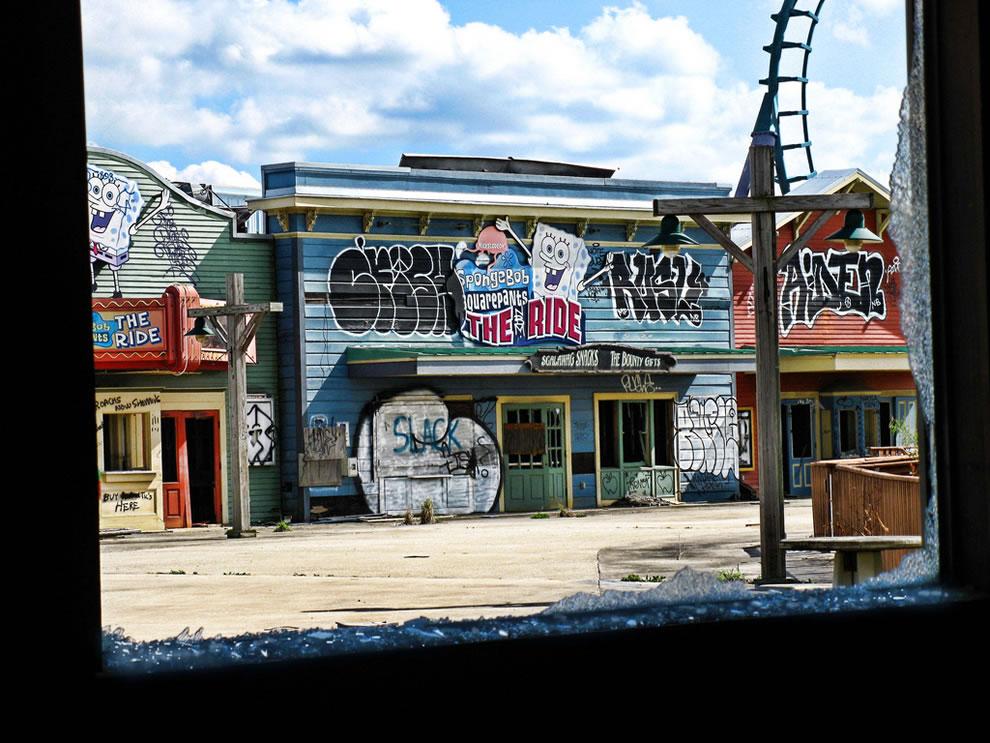 Sponge Bob's shattered dreams at defunct Six Flags