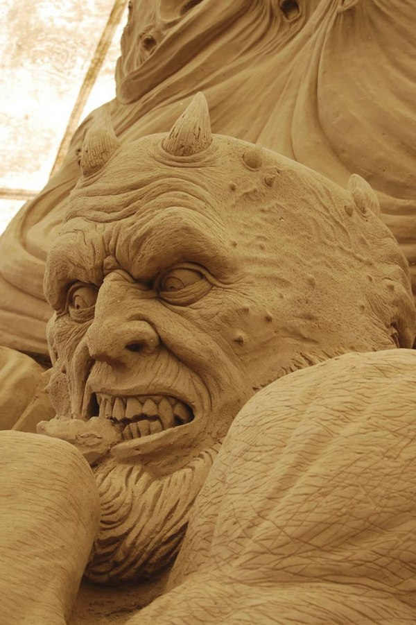 Devil Sand Sculpture