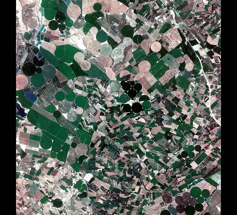 Agricultural crops in Aragon and Catalonia