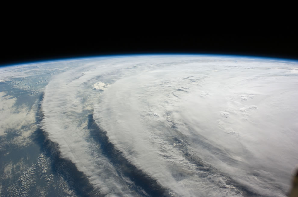 picture of Hurricane Ike by the ISS crew