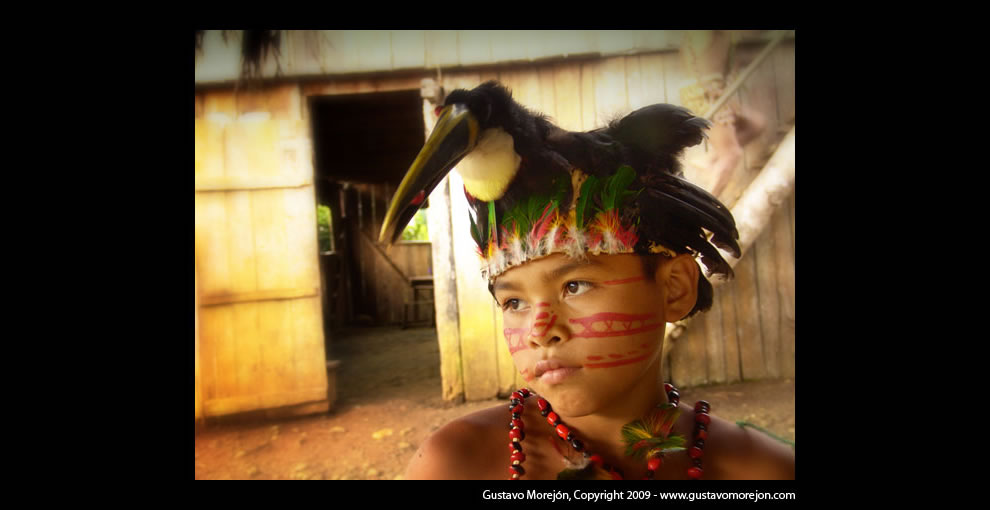 Ecuadorian Amazon rainforest, Kotococha tribe 'Wild Boy'