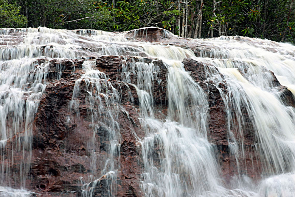 Iracema Waterfalls in Amazon rainforest