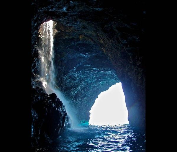 Cave Waterfall Na Pali Coast