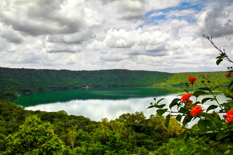 Lonar Crater Lake at Aurangabad, India