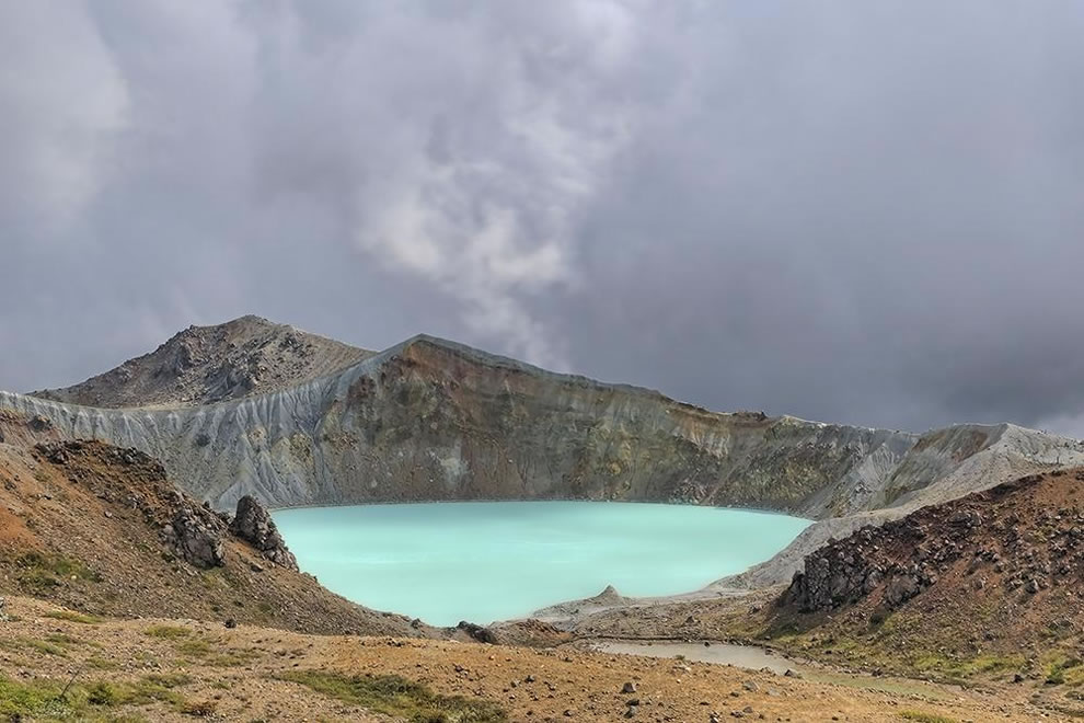 Mt.Shirane, crater lake in Japan