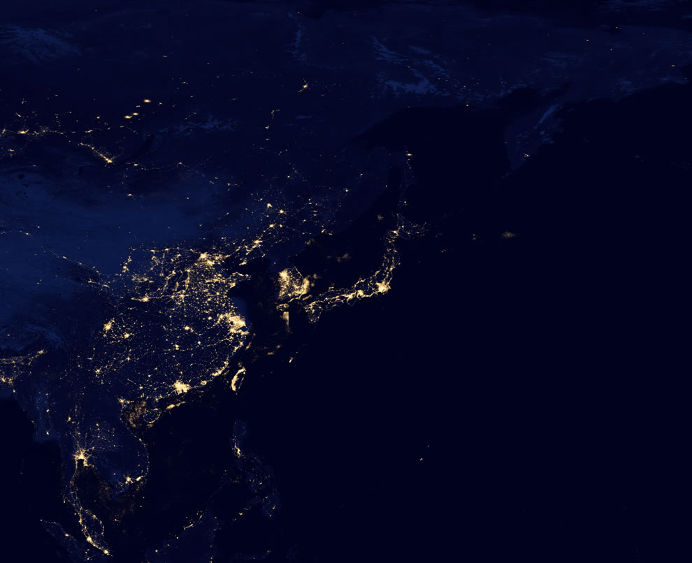 Black Marble 2012, Asia at night