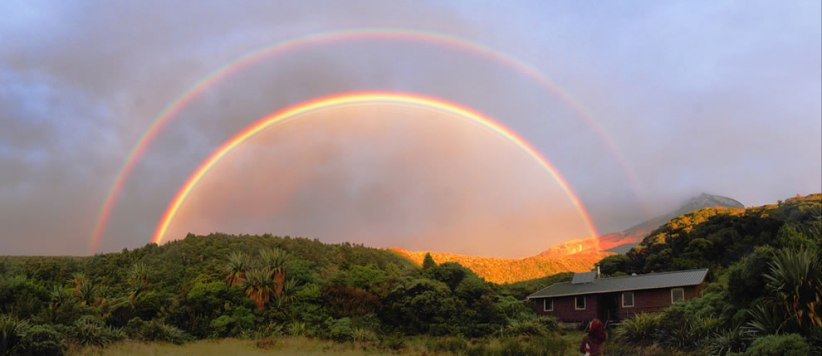 New zealand, best (could possibly )  rainbows in the world