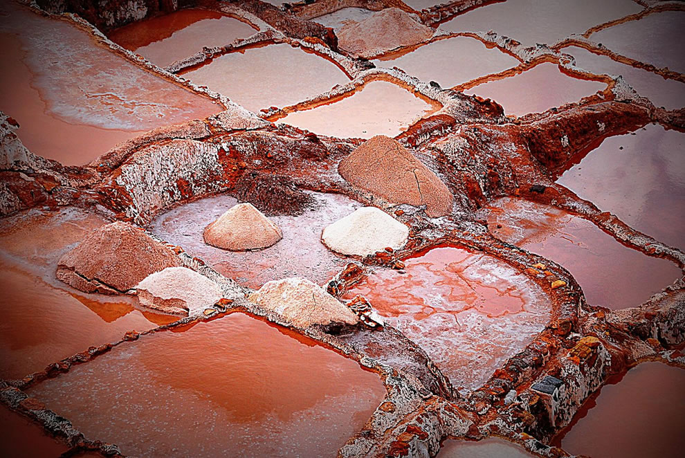 Salt pans at Maras during wet season