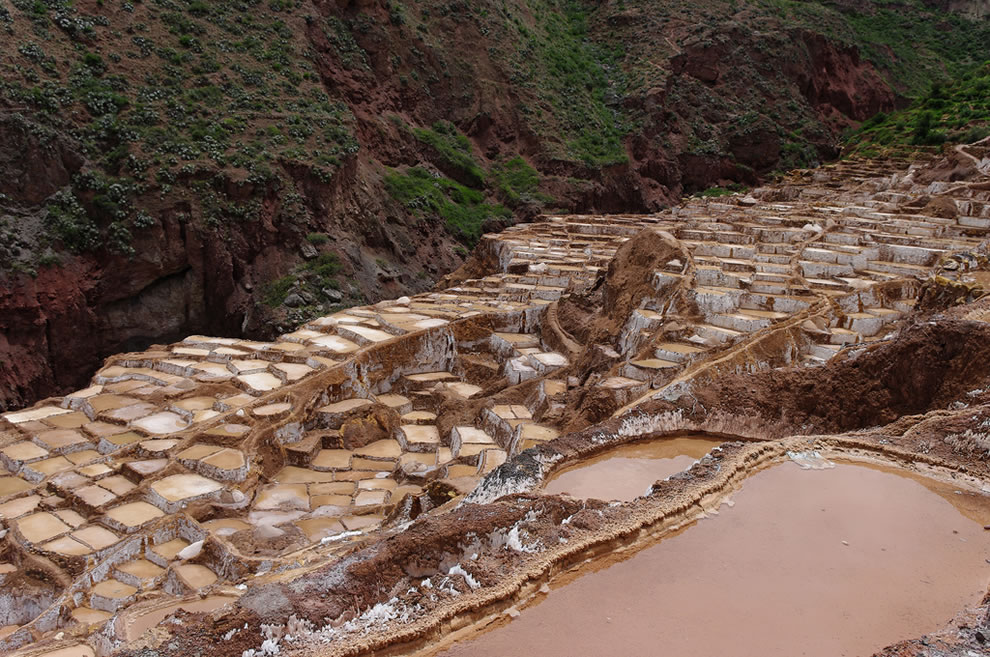Salt ponds in Dec, Peru