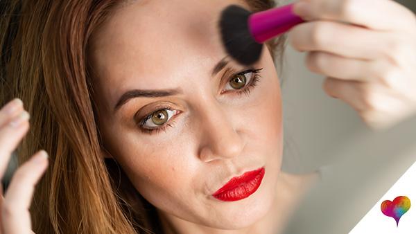 Welches Make up bei Falten