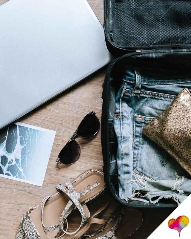 Koffer packen Platz sparen
