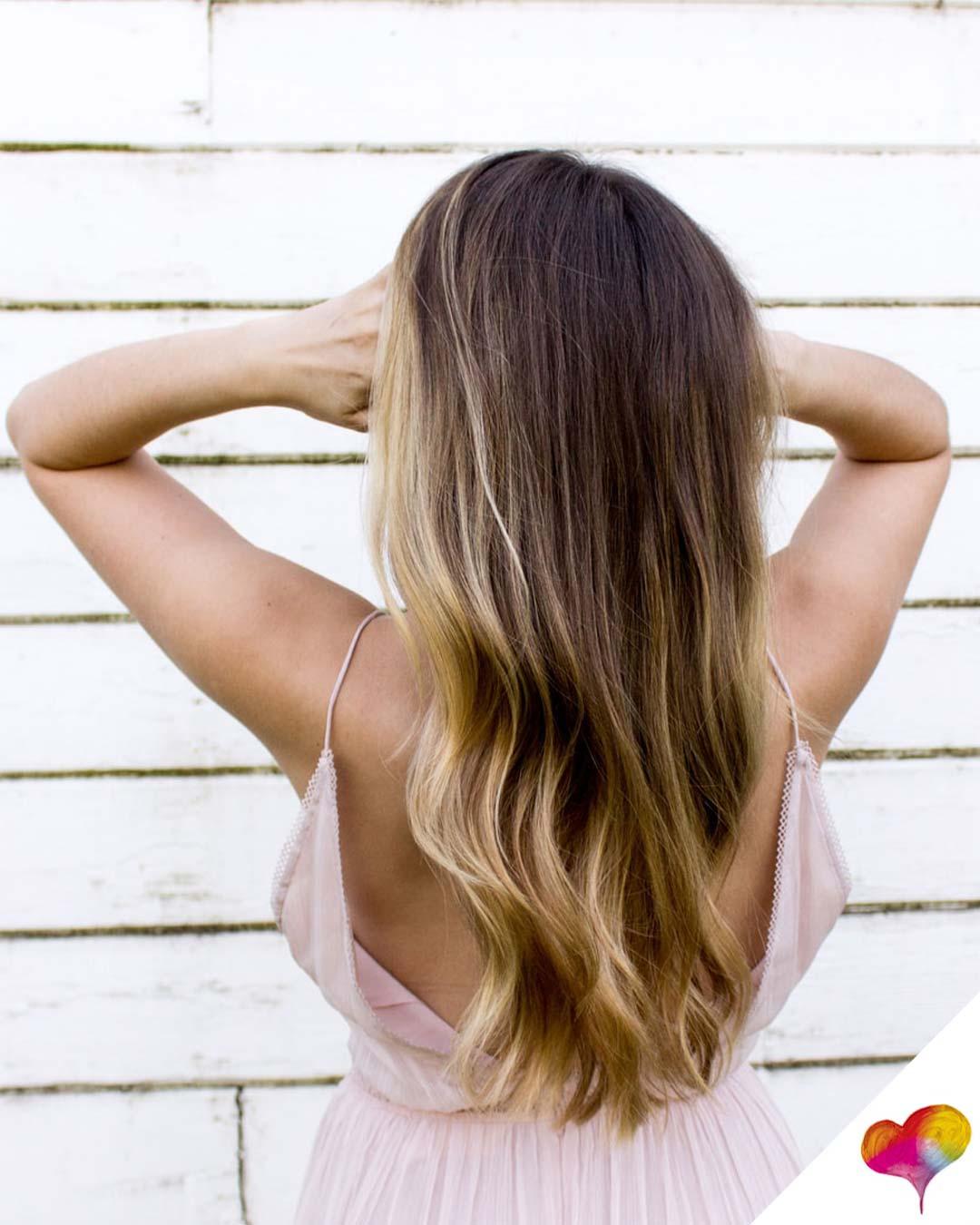 Rundem helle bei gesicht haare oder dunkle Haarfarbe für