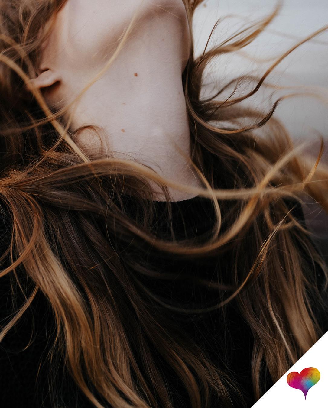Aufgeladene Haare