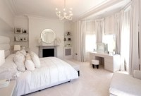 Elegant Powder White Bedroom Pictures, Photos, and Images ...