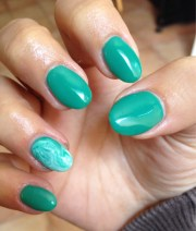 green gel nails