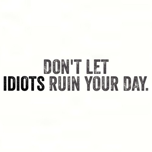 Dont Let Idiots Ruin Your Day Pictures, Photos, and Images
