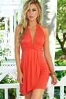 Orange Summer Halter Dress