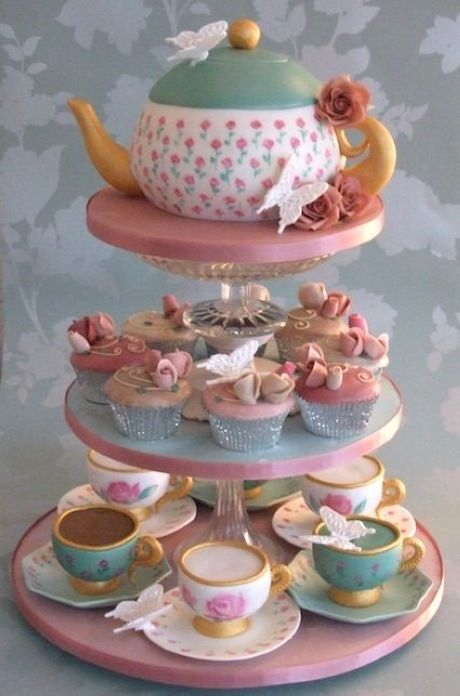 Teapot Cake Amp Teacup Cupcakes Pictures Photos And Images