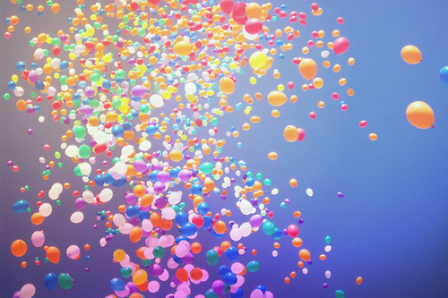 sky of balloons pictures