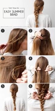 diy easy summer braid