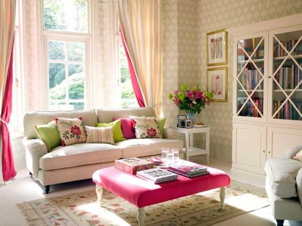 pretty living room how to decorate a long rectangular with pink accent pictures photos and images for