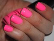 glow in dark hot pink nails